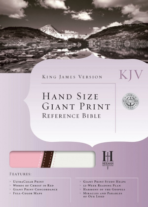 Kjv Hand Size Gp Ref Bible Pink Imlth