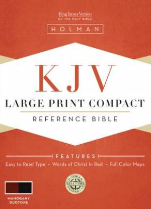 KJV Large Print Compact Bible Mahogany Simulated Leather