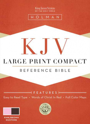 KJV Large Print Compact Bible Pink/brown Simulated Leather