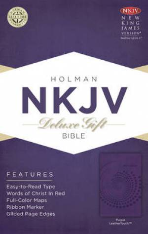 NKJV Deluxe Gift Bible Purple Imitation Leather