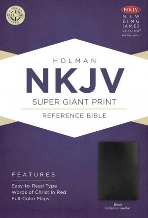 NKJV Super Giant Print Reference Bible Black Imitation Leather