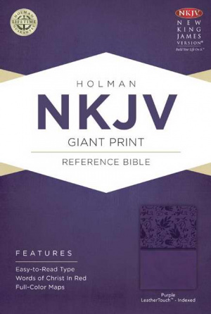 Nkjv Giant Print Reference Bible, Purple Leathertouch Indexed