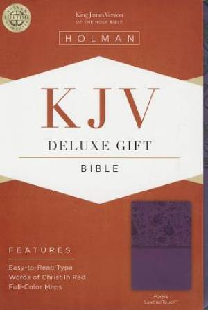KJV Deluxe Gift Bible, Purple Imitation Leather