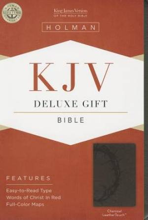 Kjv Deluxe Gift Bible, Charcoal Leathertouch