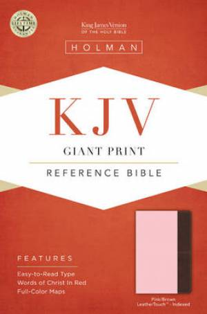 Kjv Giant Print Reference Bible, Pink/brown Leathertouch Indexed