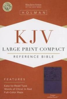 KJV Compact Large Print Bible, Purple Imitation Leather