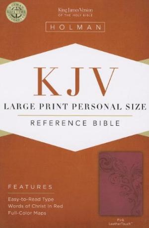 Kjv Large Print Personal Size Bible, Pink Leathertouch
