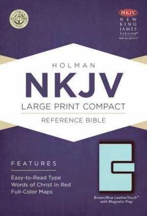 NKJV Compact Reference Bible Brown Blue Imitation Leather