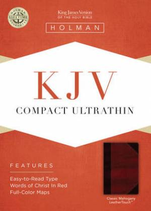 Kjv Compact Ultrathin Bible, Classic Mahogany Leathertouch