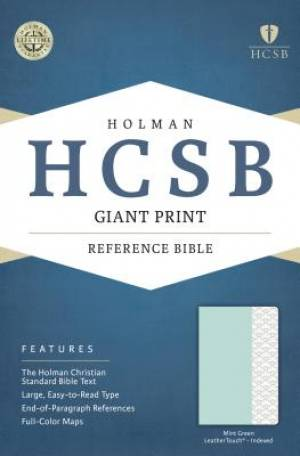 HCSB Giant Print Reference Bible, Mint Green Leathertouch, I