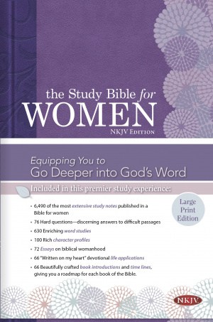 Study Bible for Women: NKJV Large Print Edition, Hardcover Indexed