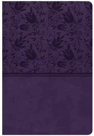 CSB Giant Print Reference Bible, Purple Leathertouch, Indexe