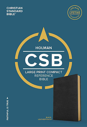 CSB Large Print Compact Reference Bible, Black