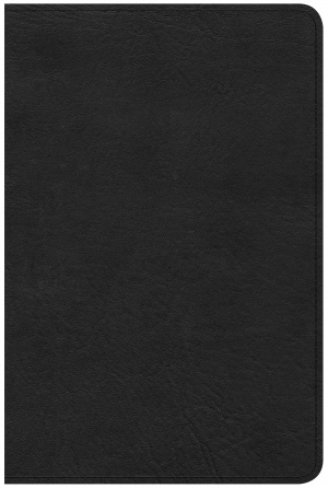 CSB Compact Ultrathin Reference Bible, Black Leathertouch