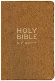 NIV Thinline Traveller's Bible Imitation Leather Tan
