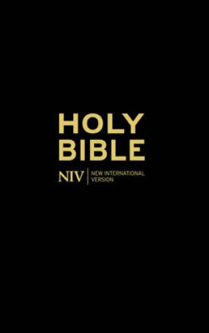 NIV Thinline Bible Anglicised Black Hardback