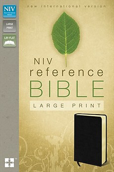 NIV Large Print Reference Bible - Leather