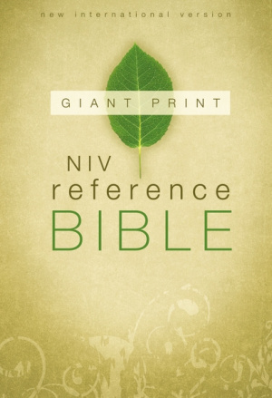 NIV Giant Print Reference Bible: Hardback