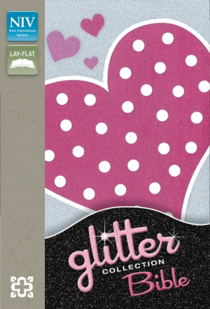 NIV Glitter Bible Collection Flexicover Pink Heart