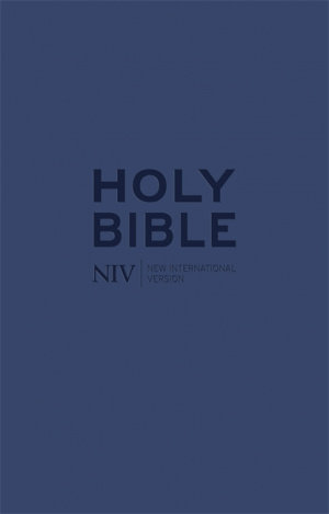 NIV Tiny Navy Soft-Tone Bible with Zip