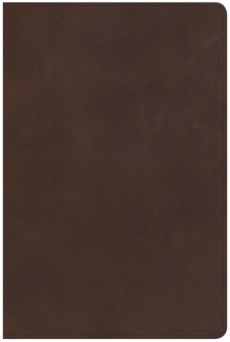 NKJV Giant Print Reference Bible, Brown Genuine Leather, Ind