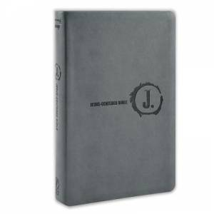 NLT Jesus-Centered Bible Charcoal