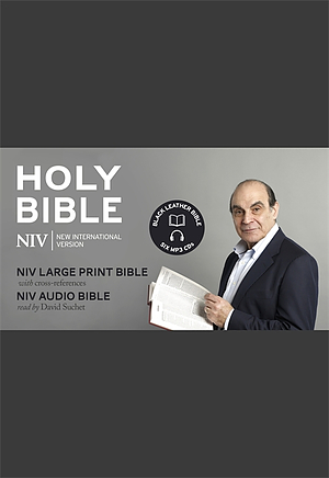 NIV David Suchet Audio and Large Print Leather Bible Gift Edition