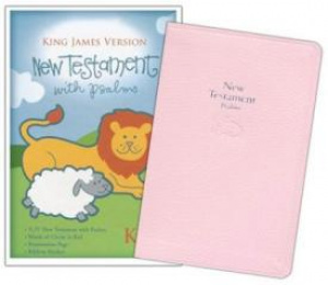 KJV Babys New Testament & Psalms: Pink, Imitation Leather
