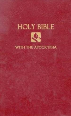 NRSV Pew Bible with the Apocrypha: Burgundy, Hardback