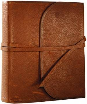 ESV Journaling Bible: Brown, Flap with Strap, Natural Leather