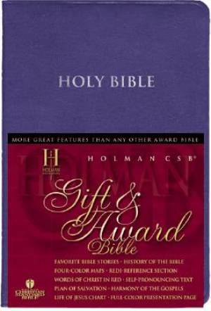 Hcsb Gift And Award Bible Blue Imlth