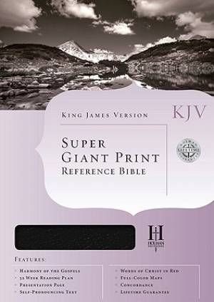 KJV Super Giant Print Reference Bible: Burgundy, Genuine Leather, Thumb Index