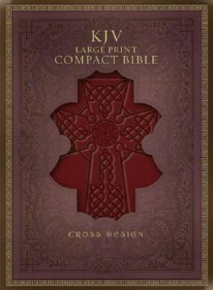 KJV Large Print Compact Bible: Burgundy, Imitation Leather