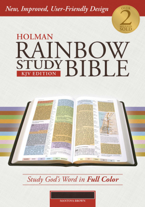 KJV Holman Rainbow Study Bible Brown Leathertouch