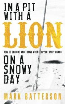In A Pit With A Lion On A Snowy Day Pb