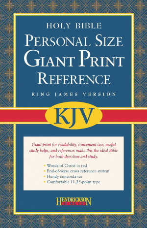 KJV Personal Size Giant Print Reference Bible: Burgundy, Bonded Leather