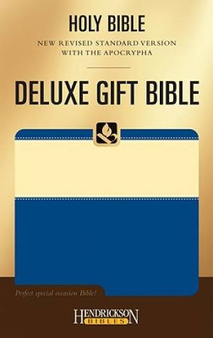 NRSV Deluxe Gift Bible with the Apocrypha: Cream on Blue, Flexisoft