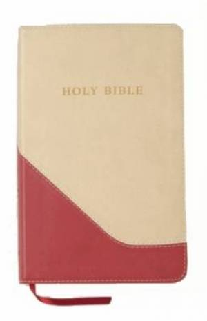 KJV Personal Size Reference Bible: Red Brick & Sand, Imitation Leather, Large Print