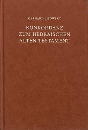 Concordance to the Hebrew Old Testament