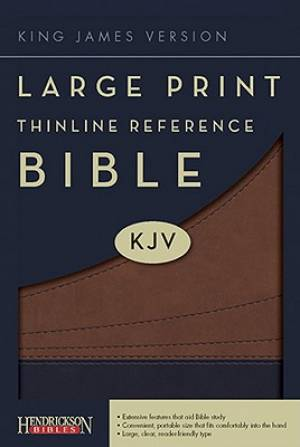 KJV Large Print Thinline Reference Bible: Brown, Imitation Leather