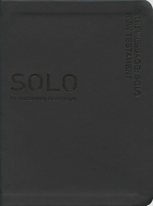 The Message Solo New Testament: Black, Leather-Look