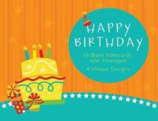 Happy Birthday Cards - Pack of 16