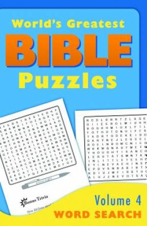 World's Greatest Bible Puzzles - Volume 4 Word Search
