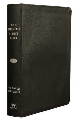 NKJV Jeremiah Study Bible Genuine Leather Black Thumb Index