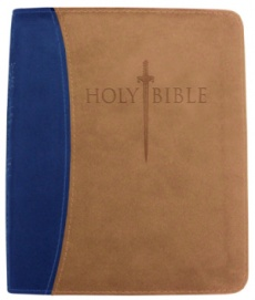 Kjver Thinline Bible/Personal Size-Blue/Tan Ultrasoft