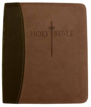 Kjver Thinline Bible/Personal Size-Dark Brown/Light Brown Ul