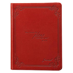 I Know the Plans (Red) Flexcover Journal