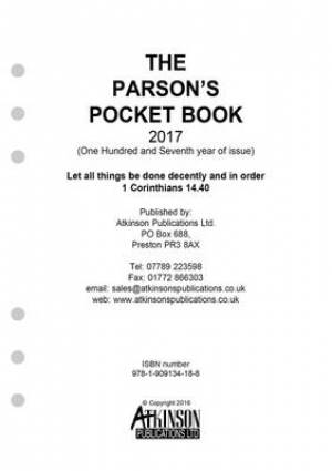 The Parson's Pocket Book Loose Leaf Diary 2017