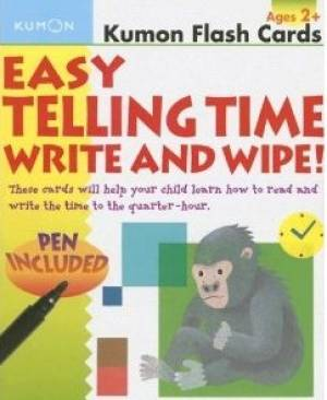 Easy Telling Time Write And Wipe Flash Cards