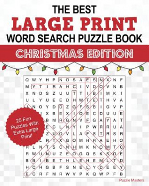 The Best Large Print Christmas Word Search Puzzle Book